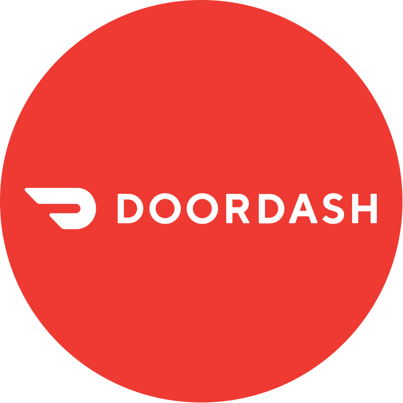 We delivery with Door Dash