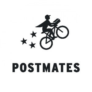 We delivery with Postmates